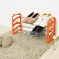 【HR安室家】日系可疊式鞋架 果澄橘 1入-SH44