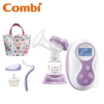 日本Combi 自然吸韻手電動2合1吸乳器 (贈春漾手提袋/玻璃奶瓶1入/防溢乳墊體驗包*2)