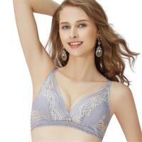 【思薇爾】啵時尚花心思系列B-E罩無鋼圈蕾絲包覆內衣(紫藤灰)