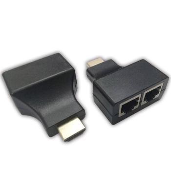 【KN】高清1080P 免電源 HDMI放大器30米 雙網路線轉HDMI