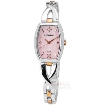 LICORNE 力抗 / LT071LTPI-R / entree 英式古感晶鑽彩貝不鏽鋼腕錶 粉紅色 玫瑰金色 20mm