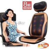 GTSTAR -豪華款頸部高規8顆按摩椅墊HY-636-咖啡金