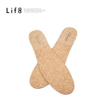 Life8-[呼吸軟木鞋墊]MIT 抑菌。吸濕。減壓(男女適用)-黑色-05310