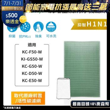 Original Life~ 空氣清淨機濾網 適用SHARP:KC-F50、KI-GS50、KC-G50~長效可水洗