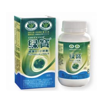 【綠寶】 綠藻片(小球藻)*2瓶 健康食品(900錠/罐)+隨身包10包(10錠/包)