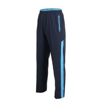 SOFO 男四面彈長褲-運動長褲 慢跑 路跑 健身 訓練 丈青水藍