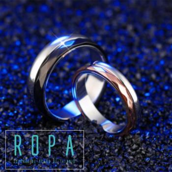 316鈦鋼可分離轉動指環情侶戒指【E07523】