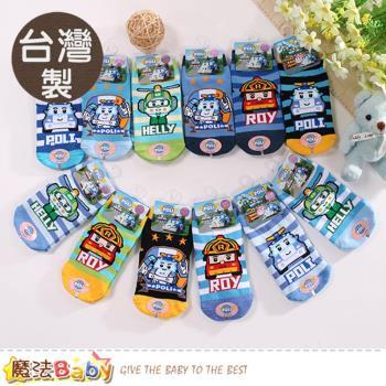 魔法Baby 寶寶襪(3雙一組) 台灣製POLI正版嬰幼兒1~4歲止滑襪~k50611