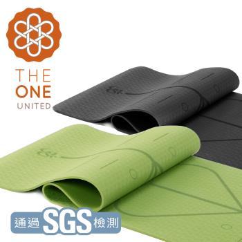 【The One】環保TPE正位線瑜珈墊 6mm(二色任選)
