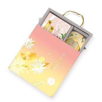 【大埔有機農場】台灣杭菊午茶禮盒(乾燥杭菊1瓶蛋捲1盒)