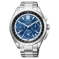 CITIZEN 星辰 光動能鈦GPS衛星對時手錶 藍x銀 43mm CC9010-66L