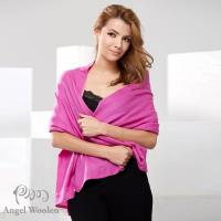 【Angel Woolen】100%Wool 雙色多變造型 羊毛披肩圍巾(粉色)