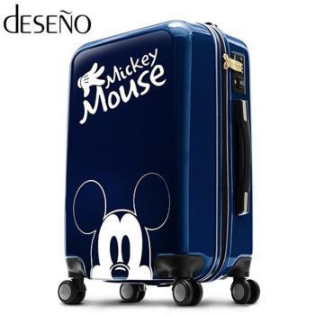 Deseno 迪士尼 Disney 米奇 米妮 奇幻之旅 多色 鏡面 拉鍊箱 旅行箱 24吋 行李箱 CL2609