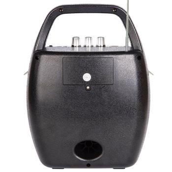 大聲公巧圓型無線式多功能行動音箱/喇叭 (手持+耳掛麥克風組)