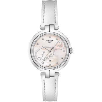 TISSOT Flamingo 浪漫時尚珍珠貝女錶(白/26mm) T0942101611101