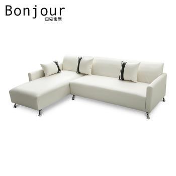 【日安家居】Darrell达雷尔MIT美型L型沙发(台湾制)/四色