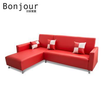 【日安家居】Murray默内MIT美型L型沙发(台湾制)/四色