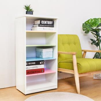 Birdie南亞塑鋼-1.6尺開放式五格收納櫃/置物櫃/鞋櫃(彩色板)