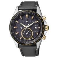 CITIZEN 星辰 光動能電波鈦金屬手錶-黑皮帶 42mm AT8158-14H