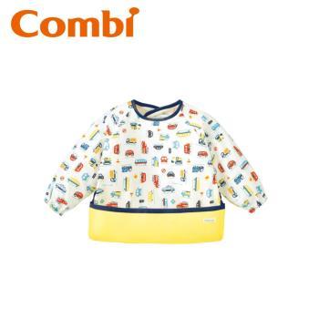 日本 Combi mini 食事圍兜長袖-玩具車