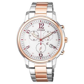 CITIZEN 星辰 XC 光動能計時女錶-雙色版 37mm FB1435-57A