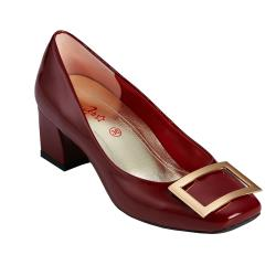 2MUCH 歐美名品手工鏡面羊皮方框鞋