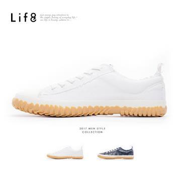 Life8-Casual 帆布 水洗加硫休閒鞋-水手藍/白色-09777