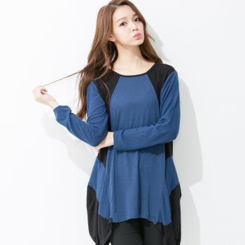 iima 時尚佳人修身針織上衣(藍)