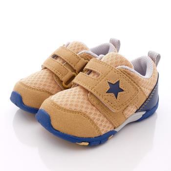 日本Carrot機能童鞋-(2E寬楦)美式星星機能款CRB738卡其(12.5cm-14.5cm)