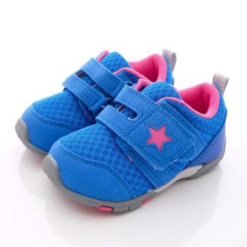 日本Carrot機能童鞋-(2E寬楦)美式星星機能款CRB733藍(12.5cm-14.5cm)