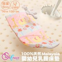 《Embrace英柏絲》70x130x5cm 嬰兒乳膠床墊(動物花園)馬來西亞乳膠 精梳純棉 幼稚園午睡(單售床墊)