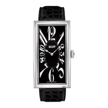 TISSOT天梭 Heritage Banana 100週年紀念錶-黑 T1175091605200