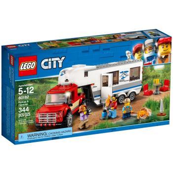 【 樂高積木 LEGO 】《 LT60182 》CITY 城市系列 - 皮卡車及露營車 Pickup  Caravan