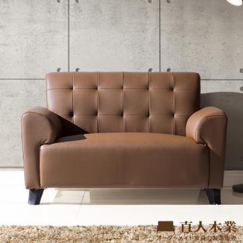 日本直人木業 BOSTON咖啡色防潑水/防污/貓抓布實用兩人沙發