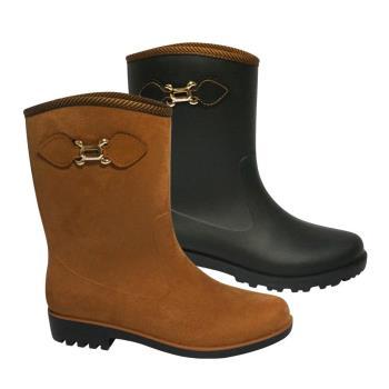 母子鱷魚乾濕兩穿時尚晴雨靴-獨