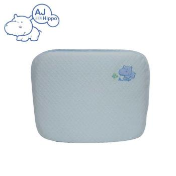【AJ HIPPO小河馬】天絲棉乳膠護頸枕 粉藍(台灣製造)