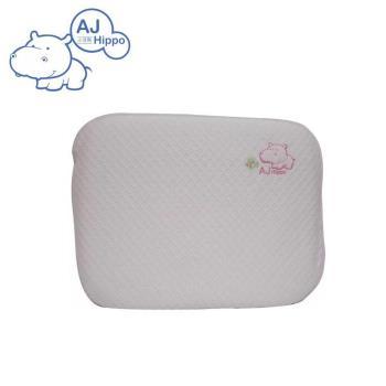 【AJ HIPPO小河馬】天絲棉乳膠護頸枕 粉紅(台灣製造)