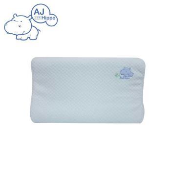 【AJ HIPPO小河馬】天絲棉乳膠嬰兒枕 粉藍(台灣製造)