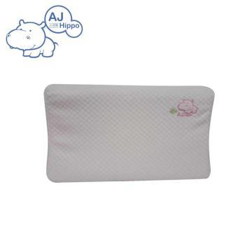 【AJ HIPPO小河馬】天絲棉乳膠嬰兒枕 粉紅(台灣製造)