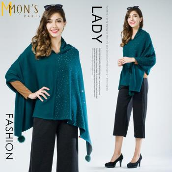 MONS名媛氣質羊毛鑽飾上衣/披肩(CA7588. CA7613)