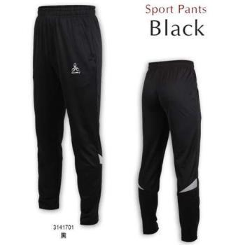 HODARLA 男-天箭針織長褲-反光 台灣製 慢跑 路跑 訓練 運動長褲 黑