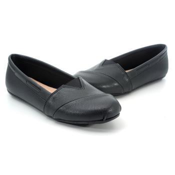 【 101大尺碼女鞋】MIT簡約百搭豆豆鞋-大尺碼系列-黑色-0760110567-89