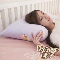 【奶油獅】MIT正版授權100%精梳純棉珍珠球棉枕(中)-幻紫