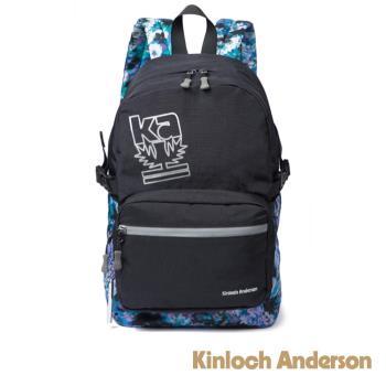 【金安德森】繽紛星空 印花反光大容量後背包-黑色(KA179001BKF)