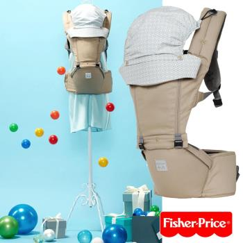 費雪Fisher-Price歐薇思腰凳式揹巾-時尚米