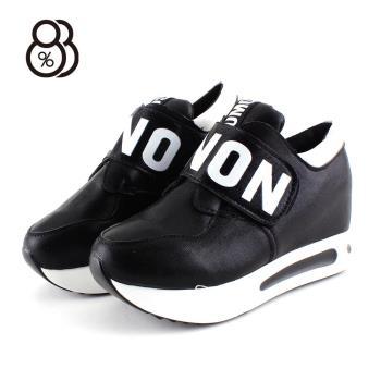 88%韓版時尚百搭3.5CM厚底增高鞋魔鬼氈休閒鞋