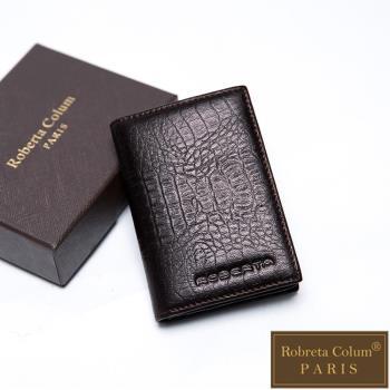 Roberta Colum - 牛皮鱷魚紋時尚名片夾-共2色