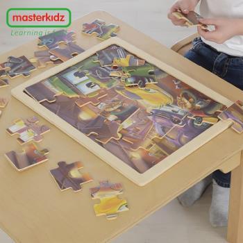 【英國Masterkidz】24片木製拼圖-快樂小車庫