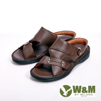 W&M 寬帶防滑軟墊兩用涼拖鞋 男鞋-咖(另有棕)