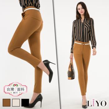 褲子顯瘦窄管MIT直筒高彈活動機能提臀美腿褲LIYO理優專利商品E741018